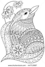 Coloring Pages Of Birds Migrating Flying Stock Photos Royalty Free Images Vectors