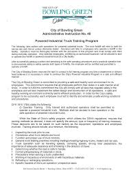 Powered Industrial Truck Training Program