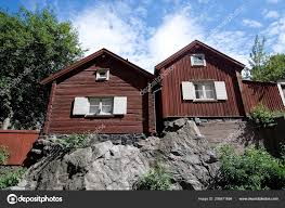 100 Homes In Sweden Old Red Wood Hills Sodermalm Stockholm Stock