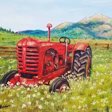 100 John Anderson Chicken Truck Free Acrylic Tutorial Rustic Tractor Painting By Angela On