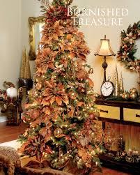 Burnt Autumn Palette Christmas Tree Decorating Theme