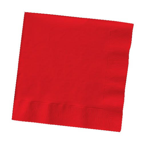 Creative Converting Lunch Paper Napkin - Classic Red, 50 Count, 3 Ply