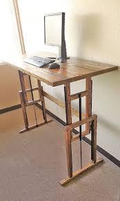Diy Wood Computer Desk by Best 25 Standing Desks Ideas On Pinterest Sit Stand Desk