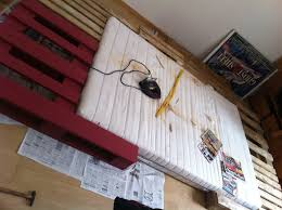 Pallet Bed Frame by Crafting A King Size Pallet Bed Pallet Furniture Pallet Furniture