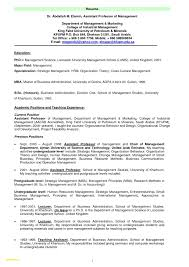 Sample Resume For Assistant Professor Position Valid Format In Engineering College Of