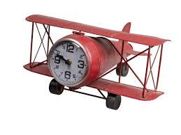 antikes doppeldeckerflugzeug mit uhr miniatur flugzeug mit zeitanzeige rustikale tischuhr in flugzeu ab 62 1 eur