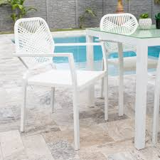 Aventura White Commercial Grade Stackable Outdoor Dining Chair With ... Patio Chairs At Lowescom Contemporary Ding Chair Stackable Recyclable Product And Modern Lowes Round And Ding Outdoor Costco Alinum Depot Noble House Dover Multibrown Stackable Wicker Chair Mercury Row Corrales Stacking Reviews Wayfair Plastic Herman Miller California White Furnish Vifah 3d 2 Included In Outdoor Chairs Backydinajarcom Trade Winds Restaurant With Centauro Cantilever Couture