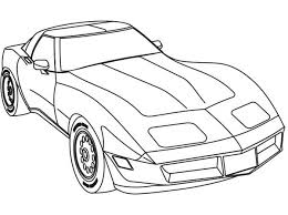 Race Car Coloring Pages Muscle Cars