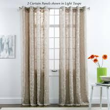 darcey floral semi sheer grommet curtain panels