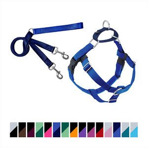 "2 Hounds Design Freedom No Pull Dog Harness - with Leash, Royal Blue, 1"", X-Large"