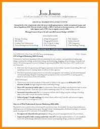 Digital Marketing Resume Sample Elegant Experiential Examples Email Of