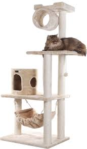 Armarkat Cat Bed by Armarkat 62 Inch Cat Tree Beige Chewy Com