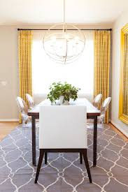 Yellow And Grey Area Rugs Eclectic Dining Room Also Acrylic Chair Ghost Chairs Gray Rug