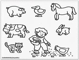 Horse Cartoon Animals Coloring Pages For Kids Printable Little