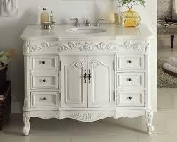 42 antique white beckham bathroom sink vanity cabinet mirror sw