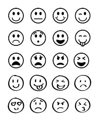 20 Emojis Emoji Clipart Graphics Smiley Face Rh Etsystudio Com Happy Black And White Laughing