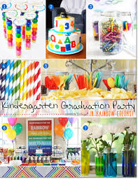 Graduation Table Decorations To Make by Fun Ideas For A Kindergarten Graduation Party In Rainbow Colors