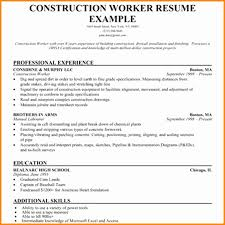 Construction Worker Resume Examples And Samples Unique Professional Painter Painters
