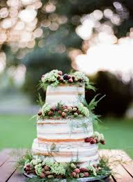 Berry Topped Rustic Naked Cake Stylemepretty