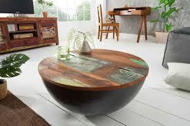 riess ambiente couchtisch jakarta 70cm grau natur aus massivholz
