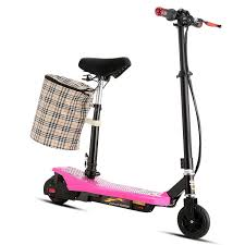 Dreamer S300 Mini Electric Scooter E Bike With ABS Retractable Seat And Removable Basket