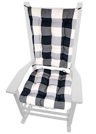 Barnett Products Vignette Buffalo Check Black & White XL Rocking Chair  Cushions - Latex Foam Fill, Reversible, Machine Washable Dutailier Replacement Cushion Set Rocking Chair Cover Grey Polka Dot Patchwork Seat Covers Ready To Ship Gray Indian Ikat Cushioned Outdoor Rocker Safaviehcom Souvenir Scroll Stone Portuguese Tile Cushions Size Extra Large Latex Foam Fill Vitra Eames Plastic Armchair Rar Maple Yellowish Chrome Seat Cushion Hopsak Ice Blue Ivory Shell Grey Noble House Champlain Wood With Dark Charles Ray Style Rar In Brislington Bristol Gumtree Gus Brown Cream Como Glider Pads For Chairs Carousel Margot Instock Upholstered Chair Store