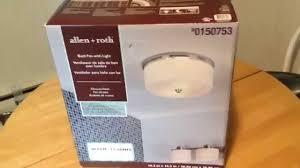 Allen And Roth Bathroom Vanity by Allen Roth 1 5 Sones 90 Cfm Bathroom Exhaust Fan Light
