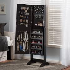 Baxton Studio Alena Black Wood Jewelry Armoire-28862-7057-HD - The ... Mudroom Cabinets For Sale Coat And Shoe Storage Ikea Simple Solid Wood Armoire 2 Sliding Doors Hang Rods 4 Roomy The Mirrored Hammacher Schlemmer 25 Organizer Ideas Hgtv 20 That Are Both Functional Stylish Cupboard For Hallway Armoire Shoe Storage Bedroom Organizers Martha Stewart Stunning Wardrobe Closet Unfinished Roselawnlutheran Fniture Wardrobe Cedar Emerald Estate Shoe Armoire Guildmaster Art Deco Vanity Two Night And A Cabinet