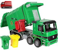 Green Kids Garbage Waste Rubbish Truck Toy Recycle Vehicle Trash Can ...