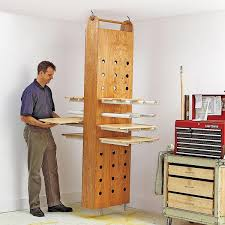 drop down drying rack woodworking plan from wood magazine