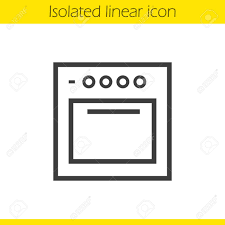 Stove Linear Icon Gas Cooker Thin Line Illustration Oven Contour Symbol Vector Isolated