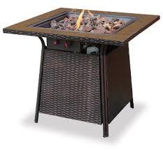 buy uniflame gad1393sp lp gas outdoor firebowl with slate tile