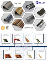 Tile Stair Nosing Trim by Tile Step Edging Aluminium Stair Nosing Strip Non Slip Stair Trim