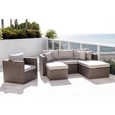 Outdoor Cushions Sunbrella Home Depot by Atlantic Allen Grey 4 Piece Wicker Outdoor Sectional Set With