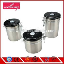 Stainless Steel Coffee Canister Escape Valve Free Scoop Ounce Airtight Container Nz