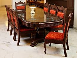 Perfect Indian Dining Table Set With Chair Design And Decoration 6 Cover Size Uk