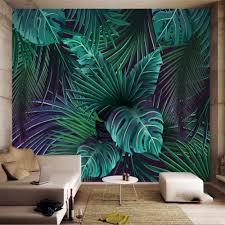 nach 3d tapete wandbild palm blatt monstera green leaf moderne hintergrund wand für wohnzimmer schlafzimmer dekoration tapete