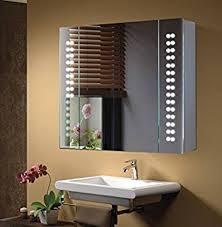 anqi mirror cabinet 60 led light illuminated mirror bathroom