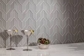 zig zag dove gray clear frosted glass tiles from akdo