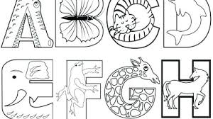 Alphabet Coloring Pages Alphabet Coloring Pages Inspiration Animal