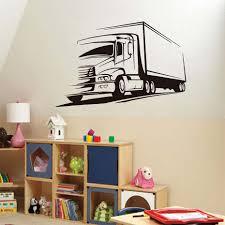 100 Big Truck Paper Wall Decorative Decal Vinyl Lorry Wall Sticker Educational