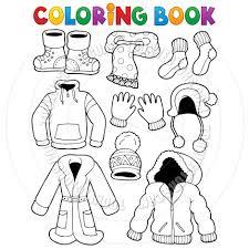 Cartoon Coloring Book Clothes Theme