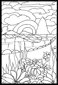 Japanese Art Coloring Book Pages Printable Cooloring