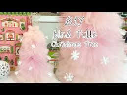 DIY Pink Tulle Christmas Tree