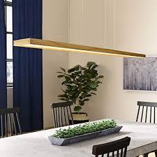 zmh led hängeleuchte esstisch pendelleuchte holz rustikal dimmbar 38w mit den fernbedienung pendelle höhenverstellbar hängele esszimmer