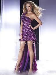 pear shaped petite short mini sleeveless one shoulder purple a