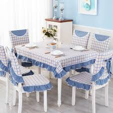 A Plaid Fabric Tablecloth Dining Chair Cushion Cover Pastoral Table Cloth