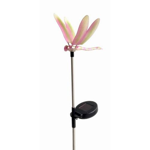 Solar Stake Light, Color-Changing LED, Dragonfly Topper 830-1427