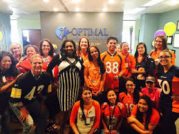 Showing our Bronco s spirit i Optimal Home Care fice