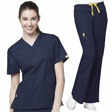 Ceil Blue Scrubs Sets by Wonderwink Origins Top 6016 Pants 5026 Scrubs Set Medical Bottom